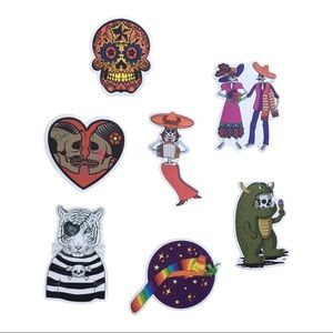 💕3/$25 7 stickers Mexican day of the dead, anime